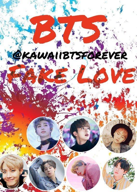 wallpaper bts fake love