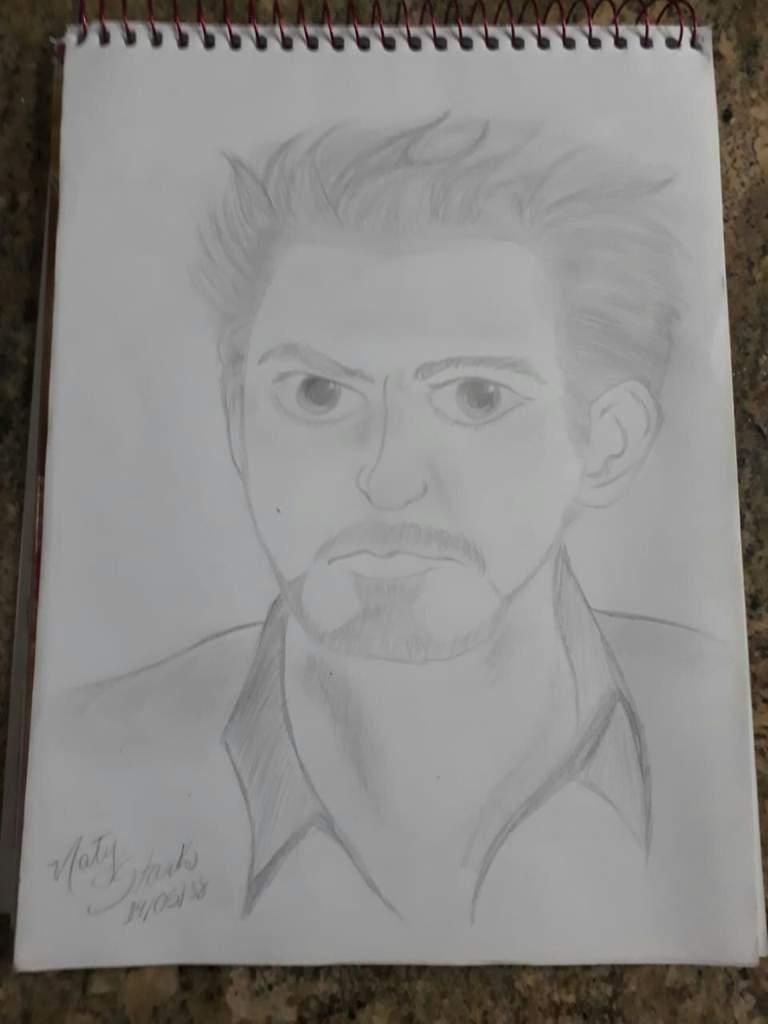 Eae Galera So Passei Para Mostrar O Meu Desenho Do Tony Stark