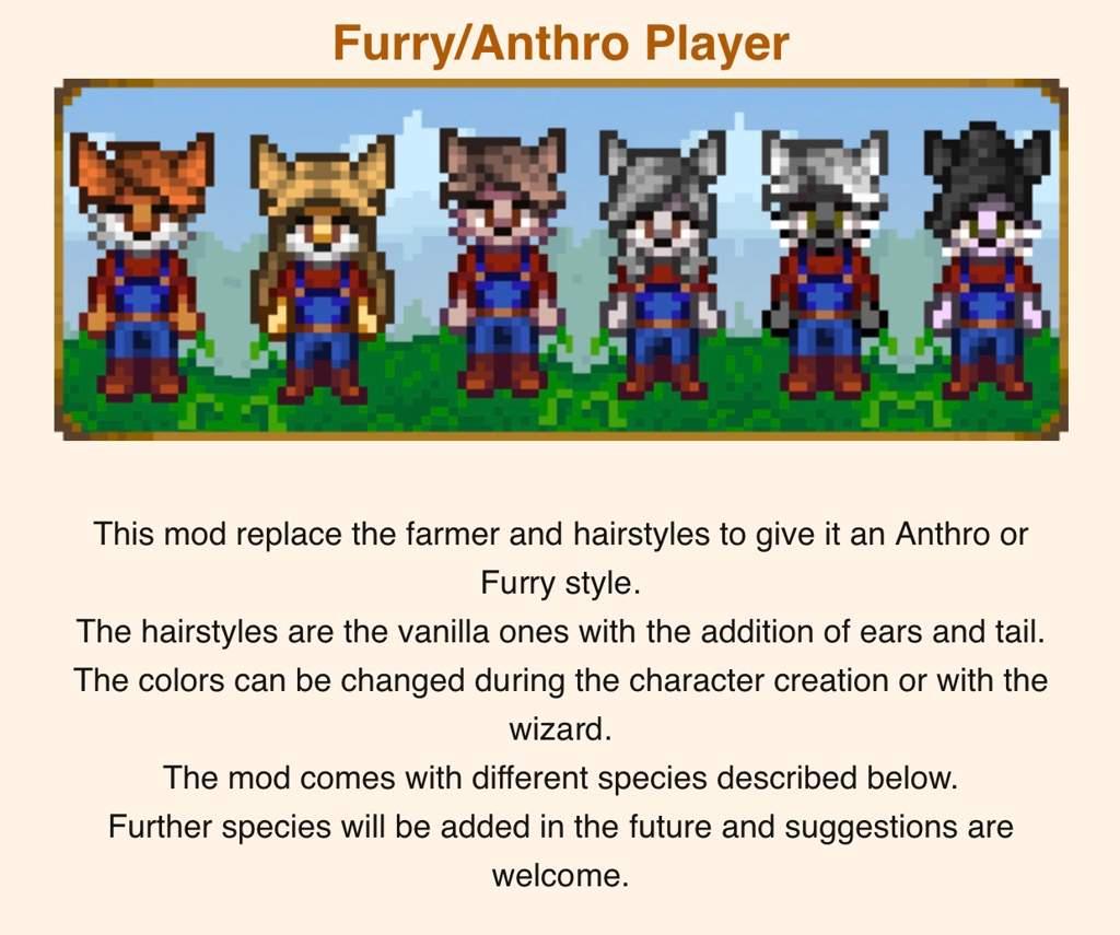 Stardew and its furry mod   Furry Amino