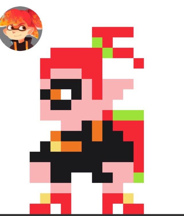 Petit Pixel Art Devilsquid Wiki Splatoon Français Amino