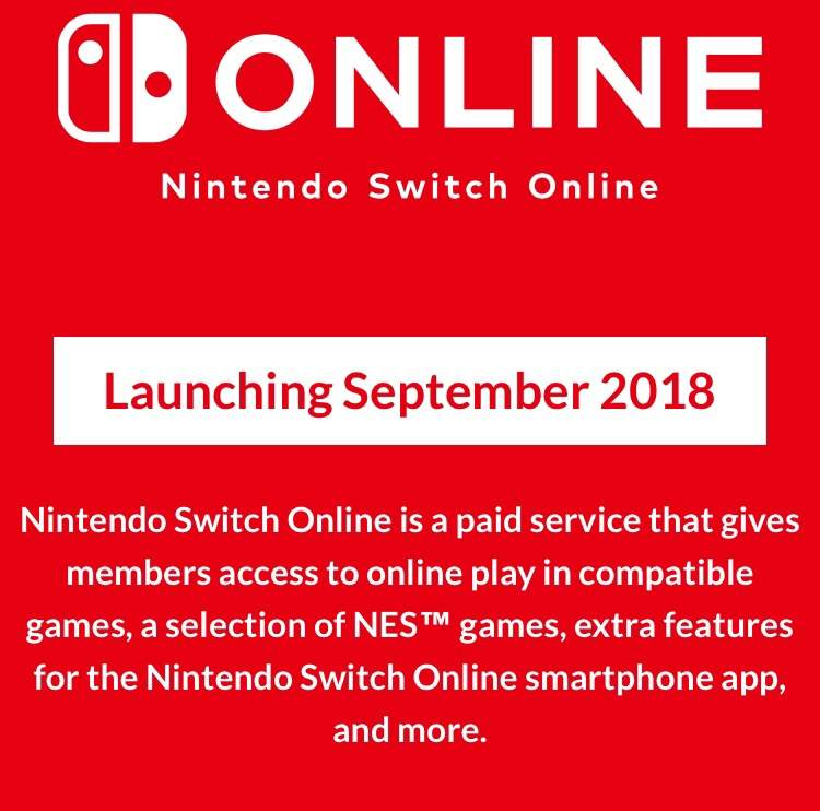 Switch Online update and possible AOV release for switch