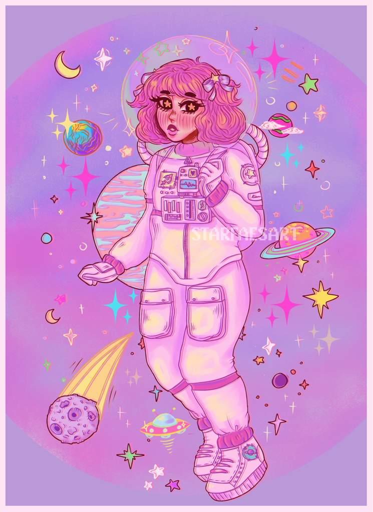 Space Girl Art Amino
