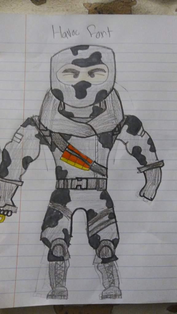 Havoc From Fortnite Drawing Fortnite Battle Royale