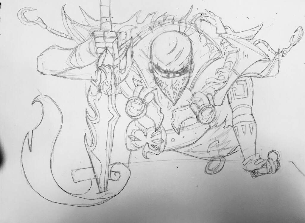 Pyke The Bloodharbor Ripper Pencil Sketch League Of Legends Official Amino Share your drawings, bug reports, ideas to improve the game, and anything else. pyke the bloodharbor ripper pencil