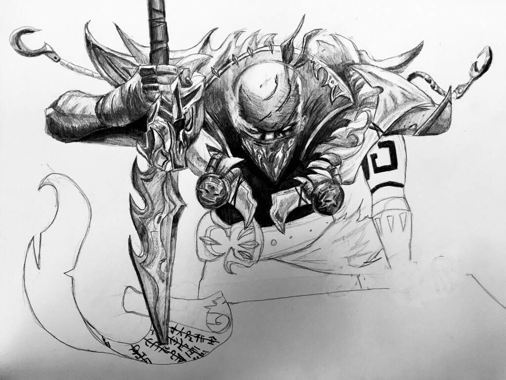 Pyke The Bloodharbor Ripper Pencil Sketch League Of Legends Official Amino K/da sketches (league of legends). pyke the bloodharbor ripper pencil
