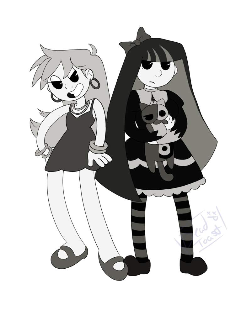 Panty and Stocking (Rubber hose style)