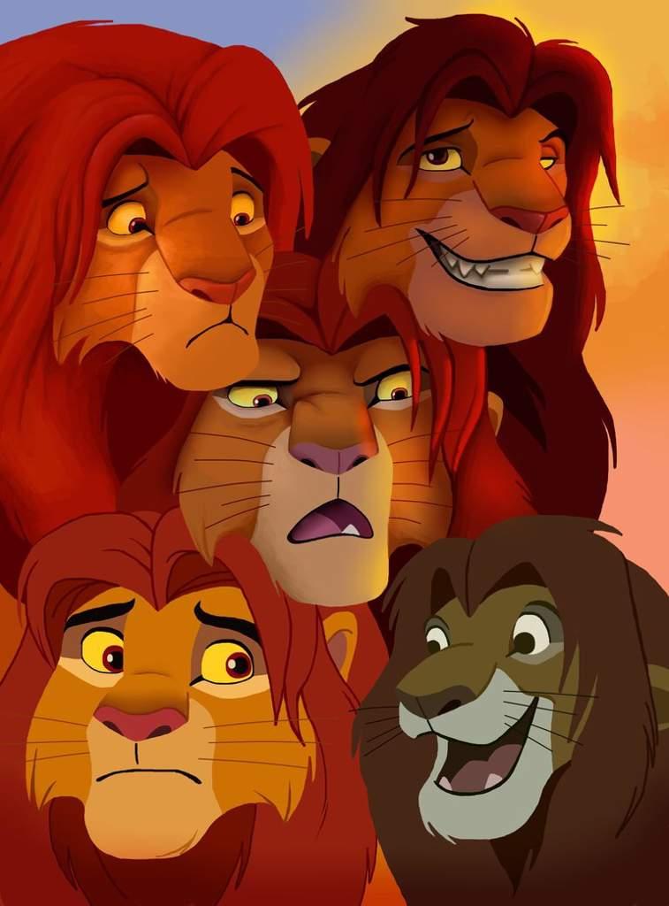 Картинки прикольные король лев