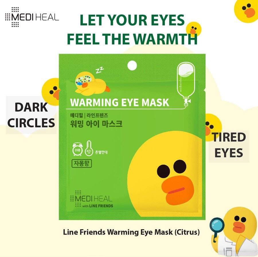 Review Mediheal Warming Eye Mask Korean Beauty Amino Line Friends Ampoule It Come With Three Version