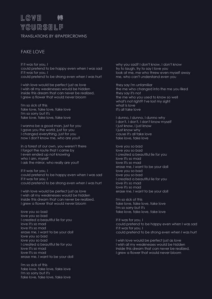 BTS LOVE YOURSELF 'Tear' Album (English Lyrics) 💧 | ARMY's