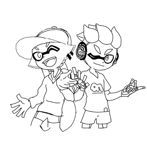 Dessin De Splatoon 2 A Colorier
