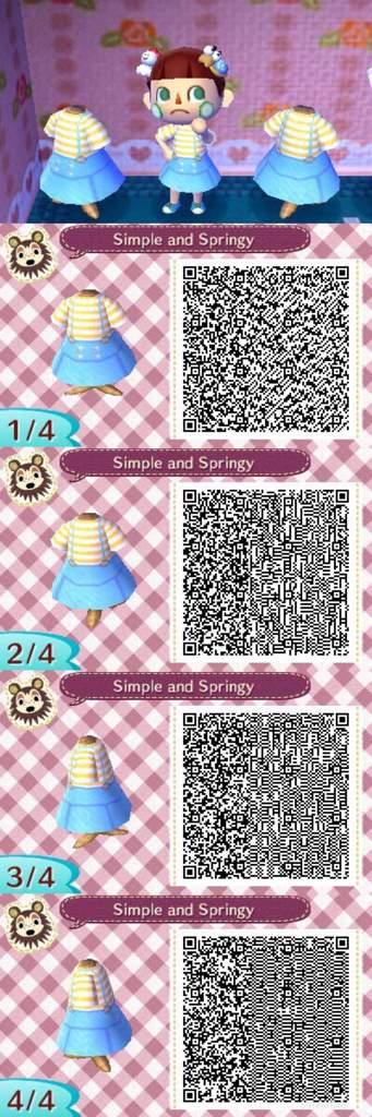 kawaii acnl qr codes dresses