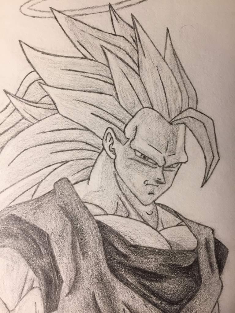 Super Saiyan 3 Goku Old Drawing Dragonballz Amino