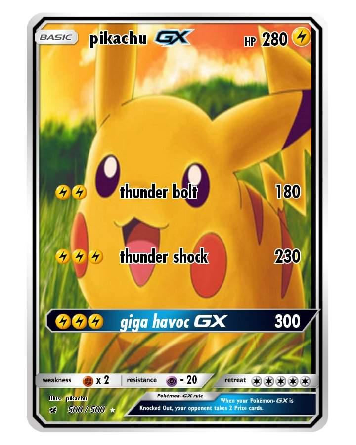 Pokemon Karten Gx Pikachu.Hey I Made This Pokemon Amino