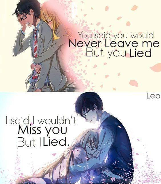 Your Lie In April Quotes Anime Amino