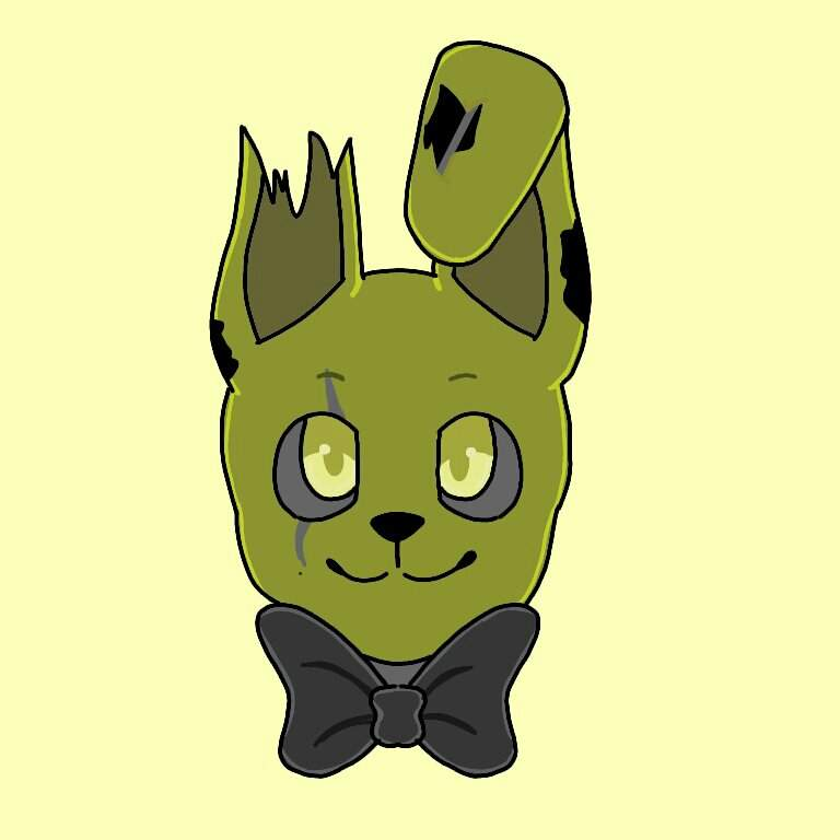 drawing of a cute springtrap five nights at freddy s amino