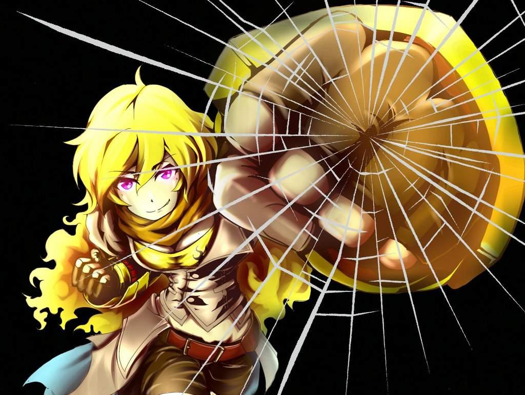 Yang Behind Glass Wallpaper Rwby Amino