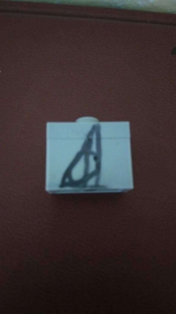 I Found A Lego On My Floor And Managed To Draw The Deathly Hallows