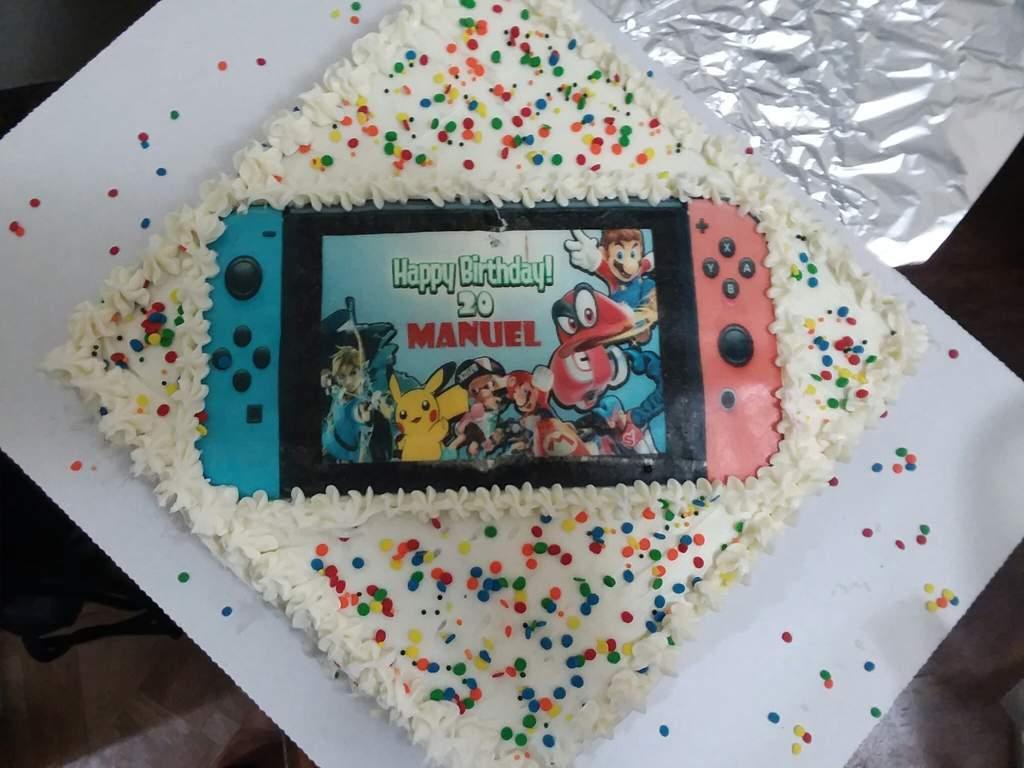 Terrific Birthday Cake Nintendo Switch Amino Personalised Birthday Cards Veneteletsinfo