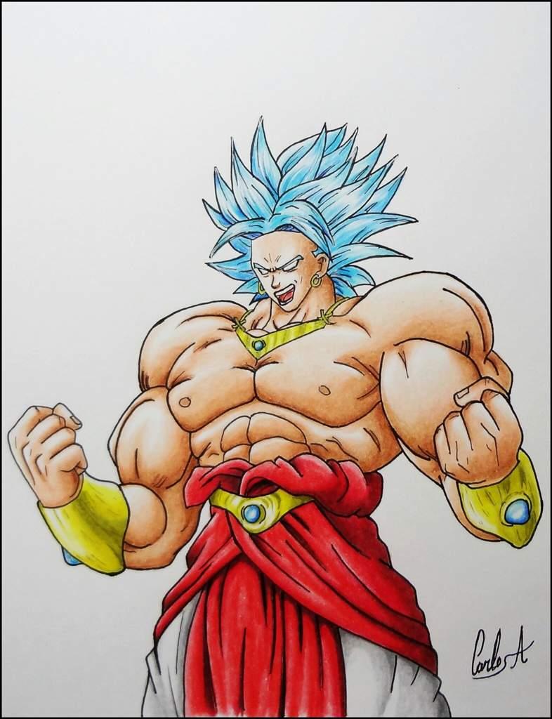 desenho do broly ssj blue drawing broly m arte amino