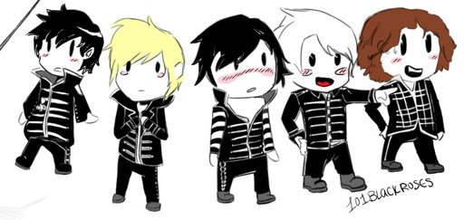 chibi welcome to the black parade gerard way but more of in the way