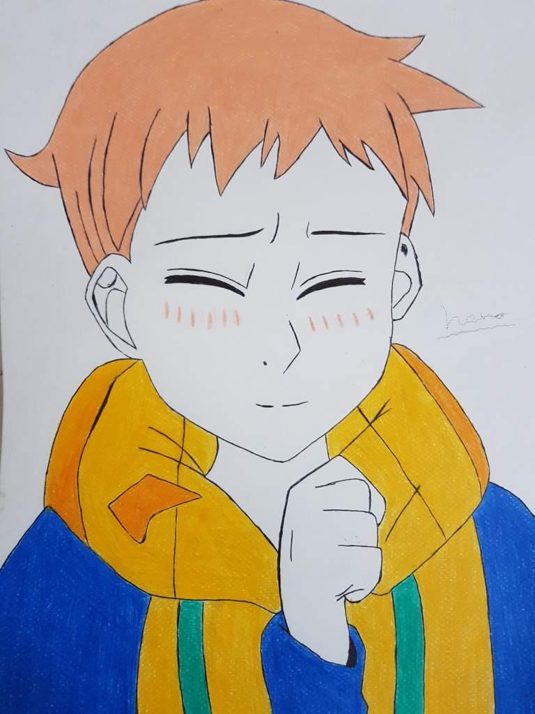 طريقة رسم King من انمي الخطايا السبع المميته Anime Shonen