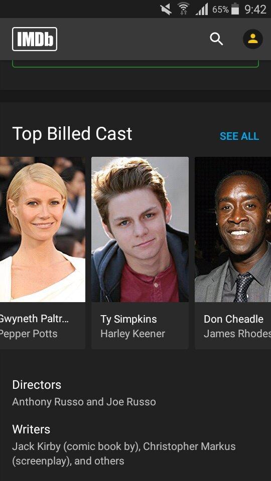 avengers 4 imdb cast