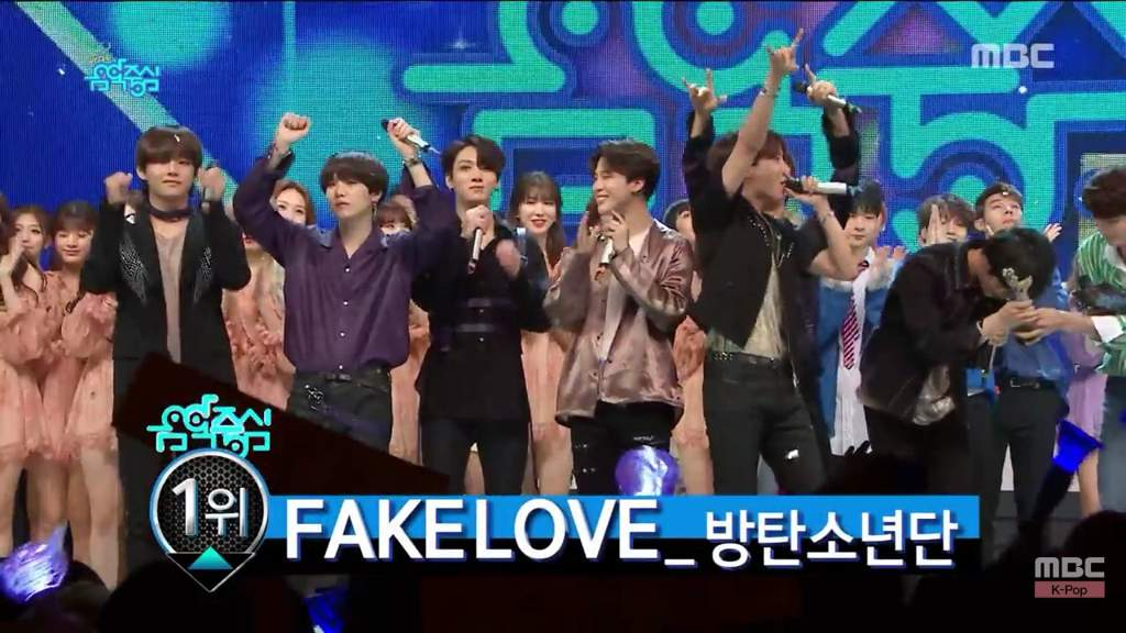 FAKE LOVE' 2ND WIN @ MBC Show! Music Core | ARMY's Amino