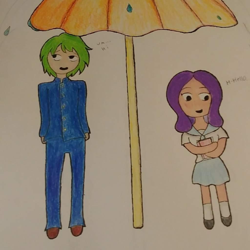 Anime Couple Names tiffany- umbrella couple | art amino