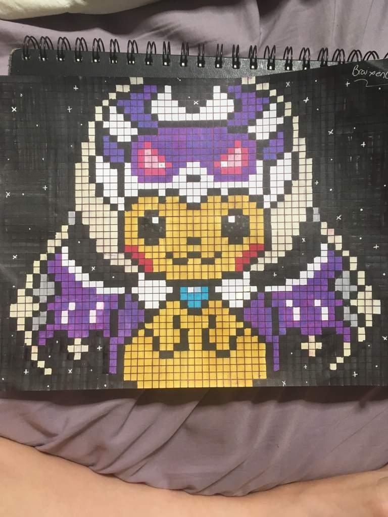 Pixel Art Pokemon Pikachu Déguisé
