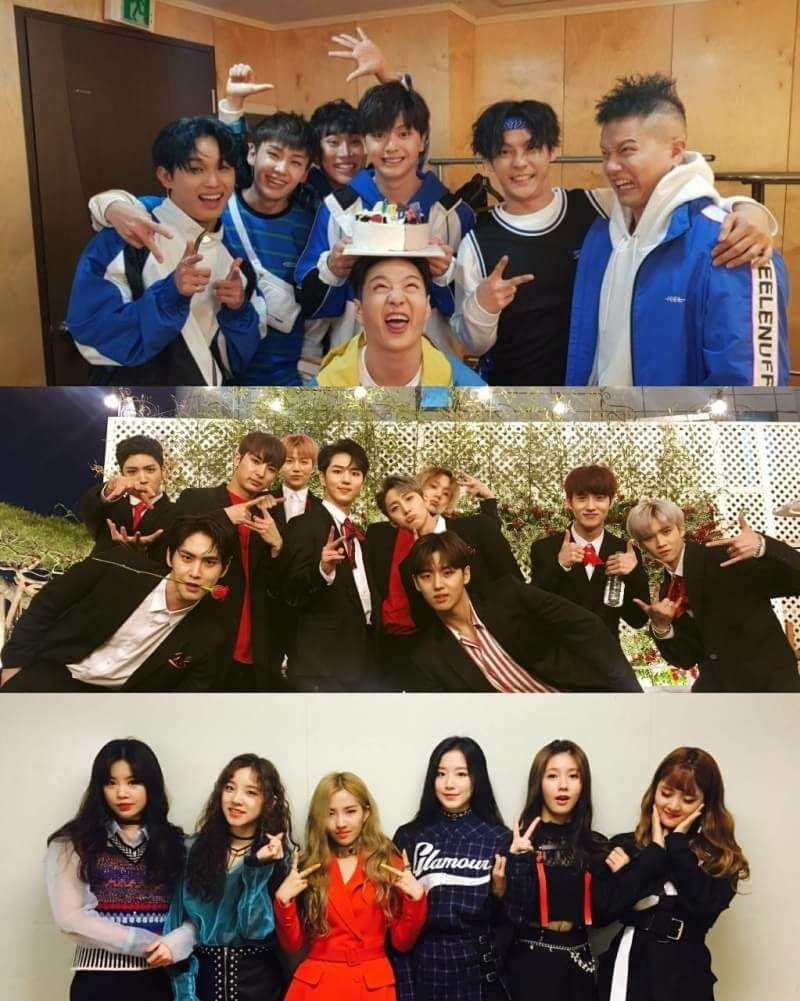 BTOB PENTAGON and G-IDLE  CUBE FAM will be guest on IDOL