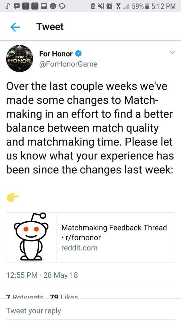 Matchmaking for honor