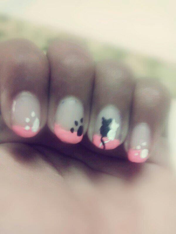 Cat nail art | Nail Art Amino