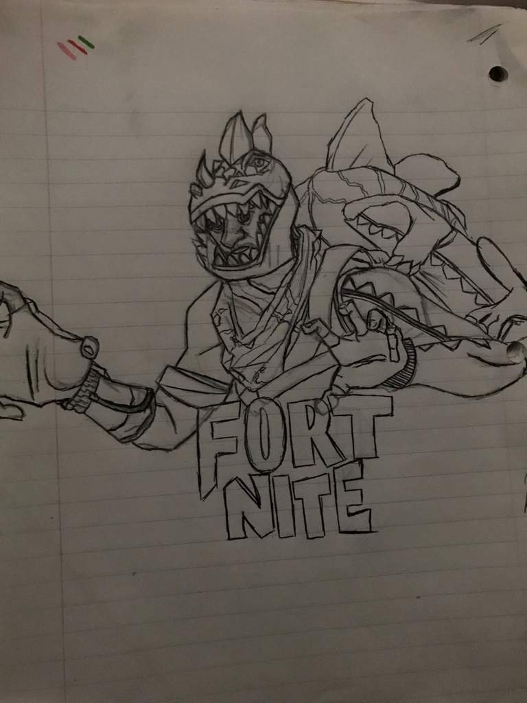 Drawing Of The Rex Skin Next Drawing Is The Leviathan Fortnite