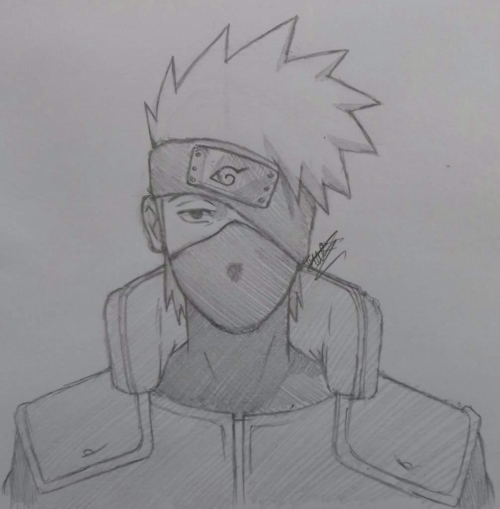Tuto Dessin Comment Faire Kakashi Hatake Naruto