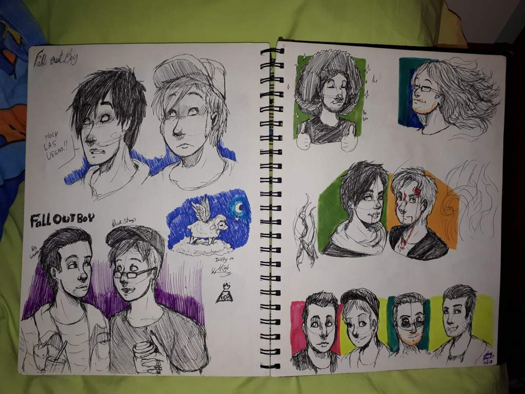 Some Fall Out Boy Ink Sketches Youngblood Fall Out Boy Amino