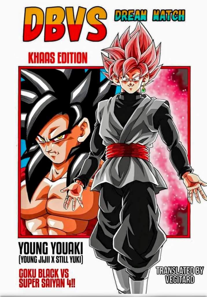 Super Saiyan Rose Goku Black Vs Super Saiyan 4 Goku Manga