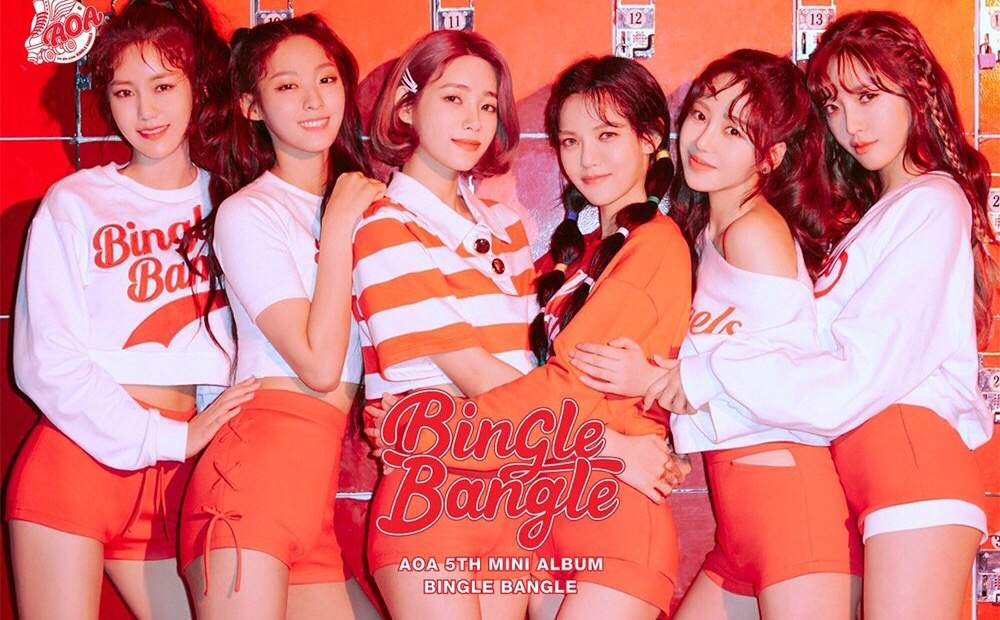 Imagini pentru aoa 5th mini album bingle bangle