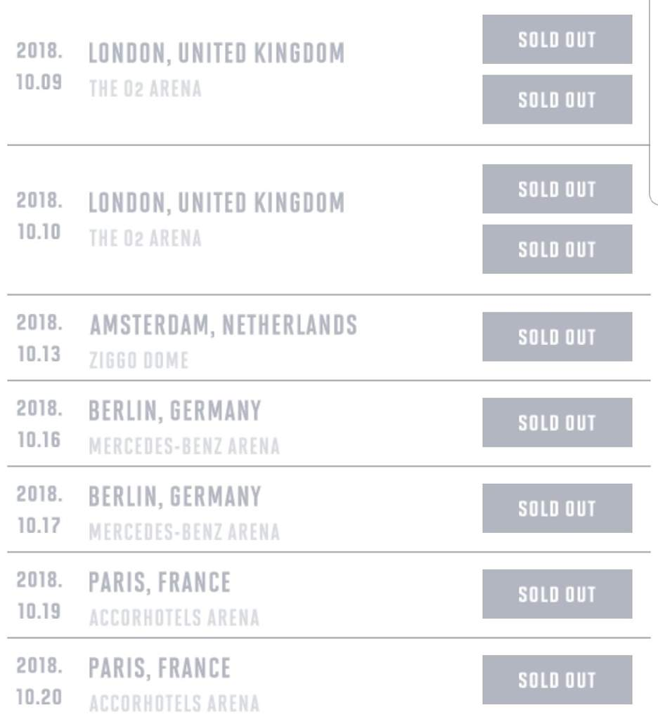 Bts Europe Tour Is Sold Out Army S Amino