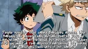 Why I Believe the Bakudeku Ship is Not Abusive/Why Kacchan