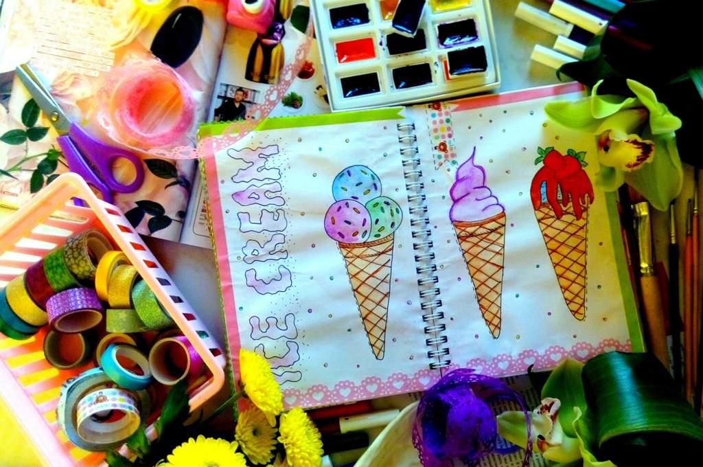 кусочки картинки идеи для личного дневника лето вкусовые оттенки