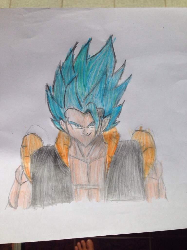 Desenho Do Gogeta Ssj Blue Dragon Ball Oficial Amino