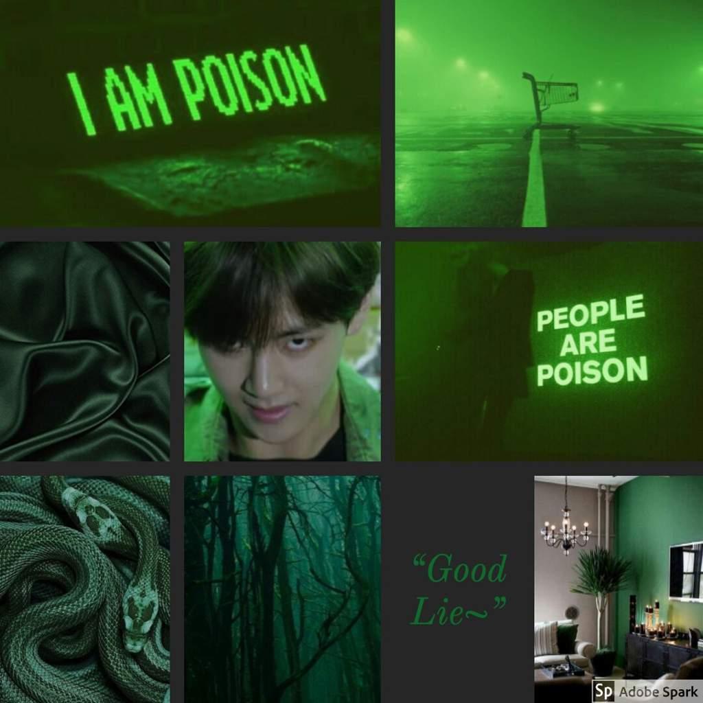 Dark Green Taehyung Aesthetic Army S Amino