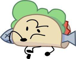 BFB intro pose Marshy Taco | Object Shows Amino