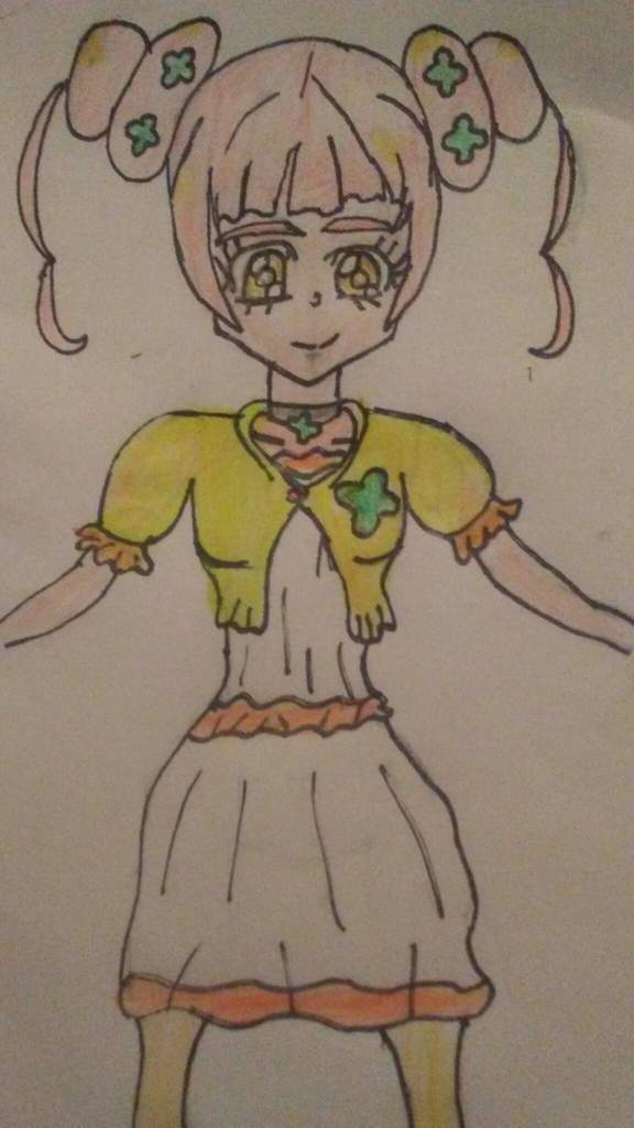 Clara (glitter clover) drawing   Glitter Force™ Amino