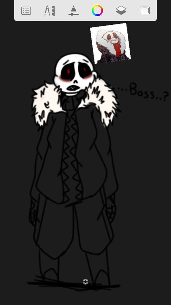 "Boss  ?"" | Underfell!Sans Fanart | Undertale AUs Amino"