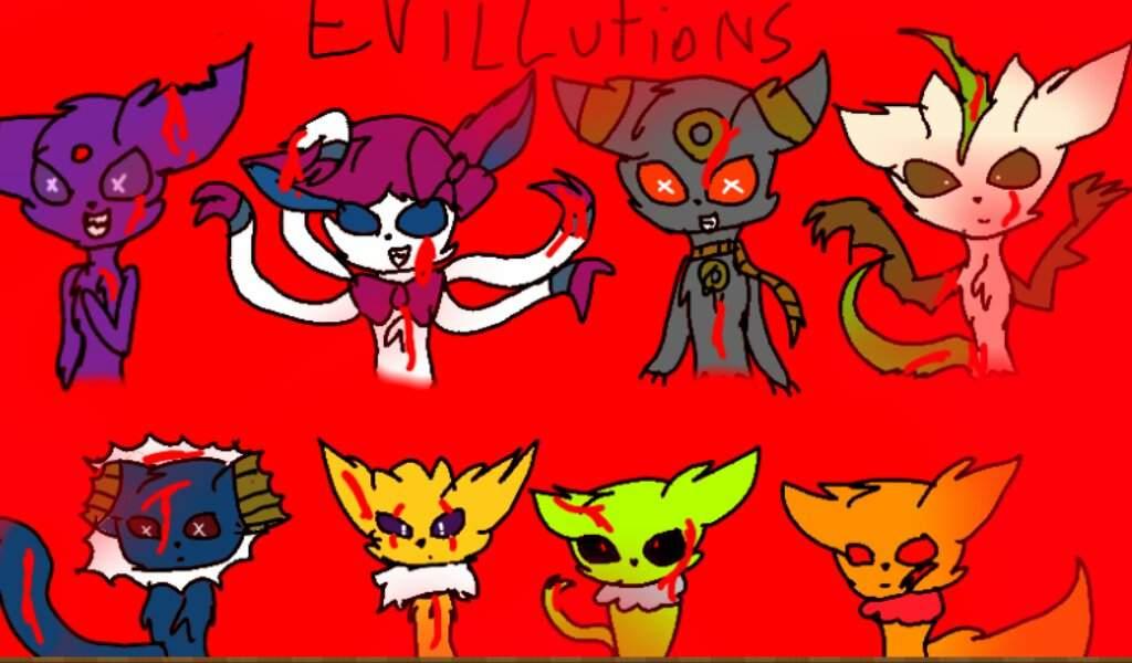 Eeveelutions as evil pokemon (creepy pasta pokemon) eevee - EEeEE