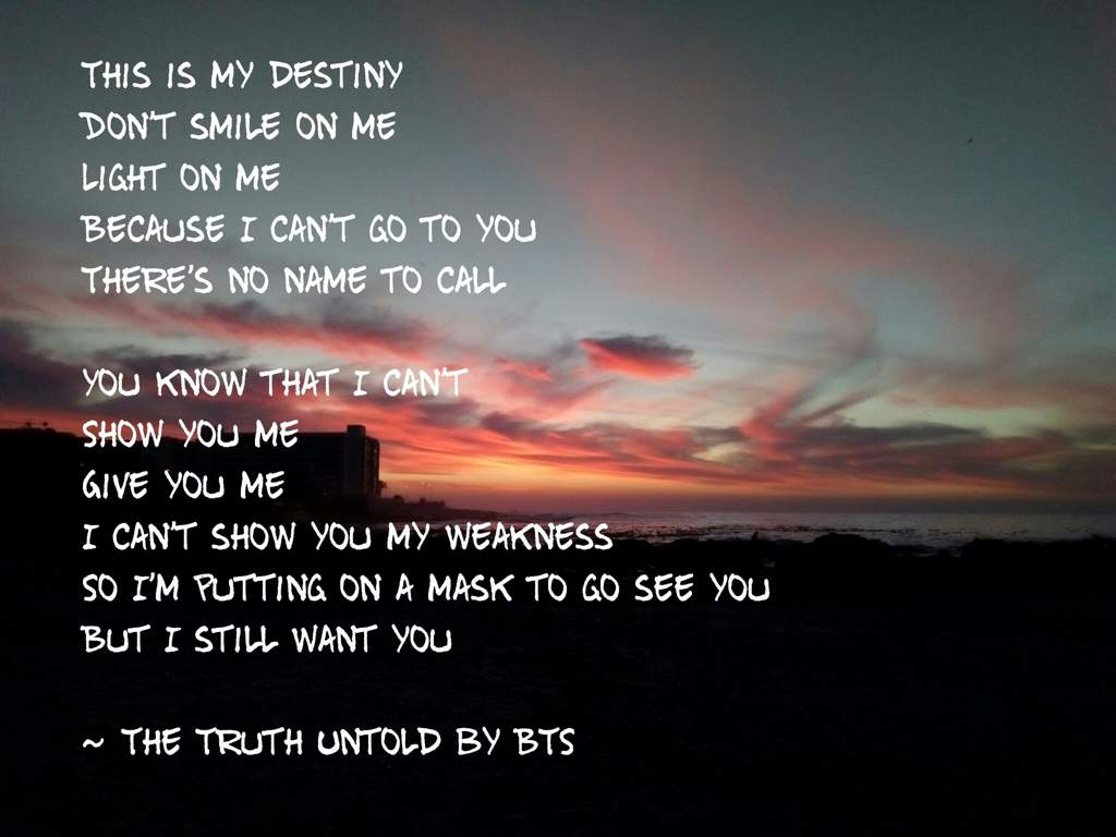 The Truth Untold Lyric Wallpaper Army S Amino