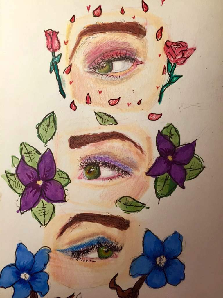 Some Flowers With Eyes Drawing Amino