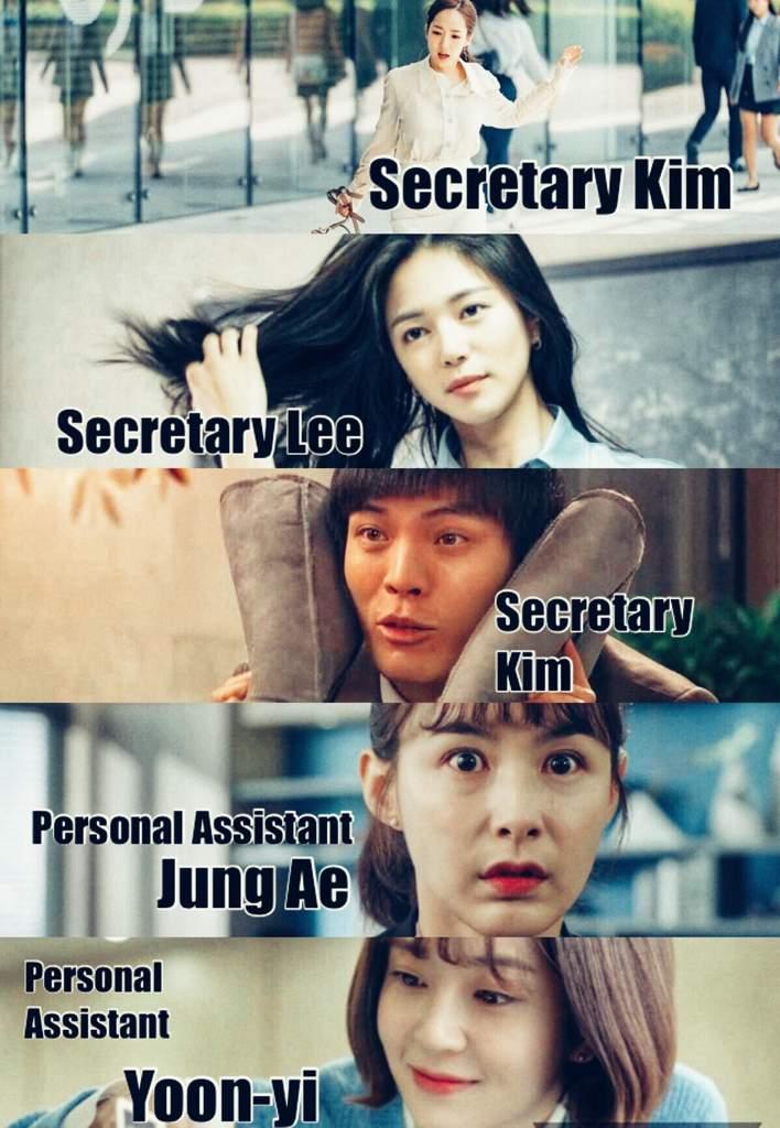 Secretary at the mercy of bosses captions