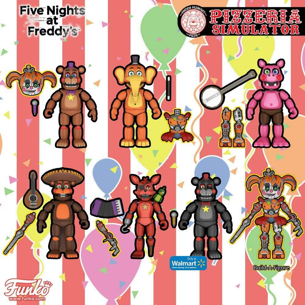 FIVE NIGHTS AT FREDDY/'S PIZZERIA PIZZA SIMULATOR LEFTY WALMART EXCLUSIVE